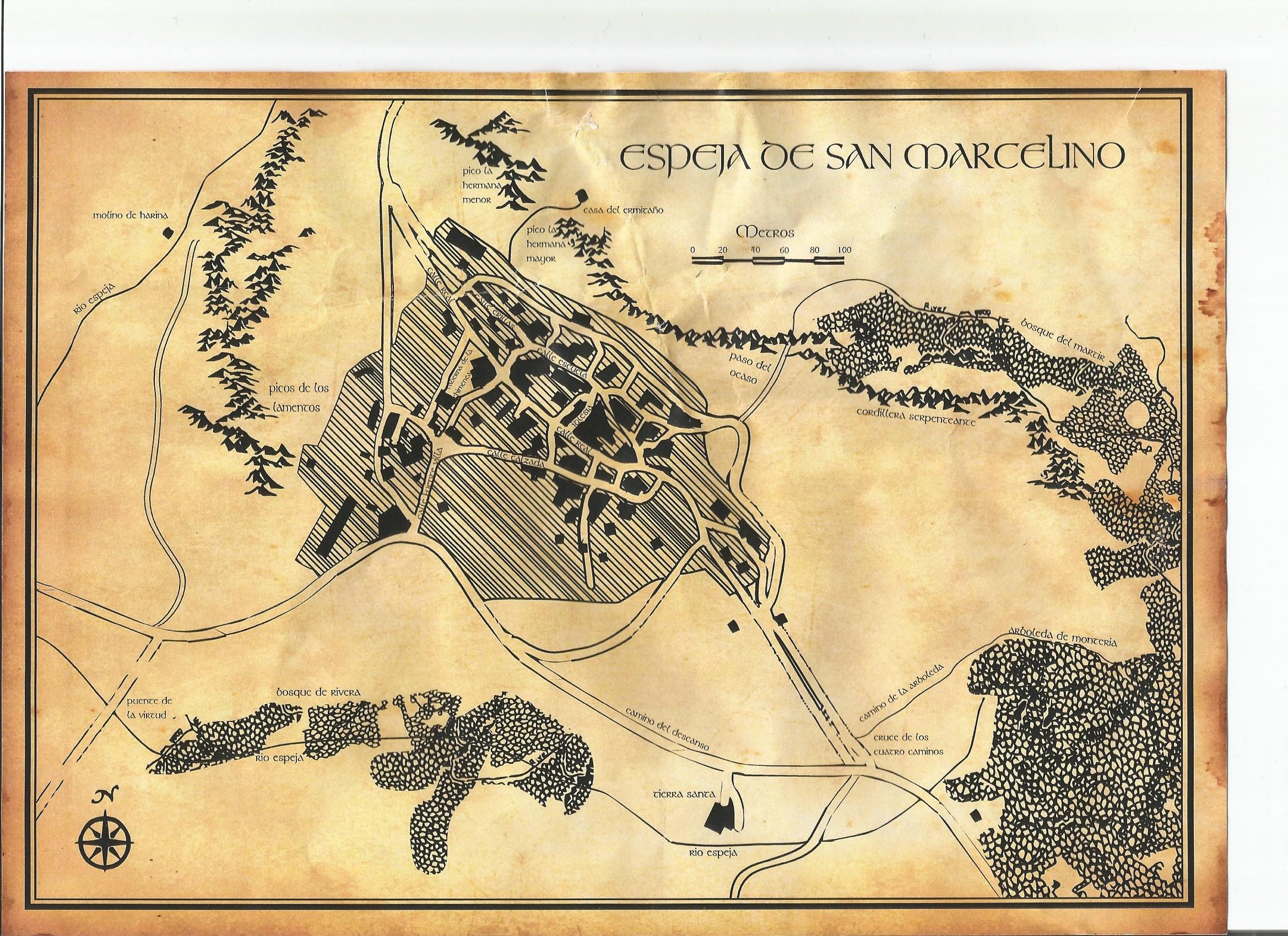 mapa fantástico búsqueda del tesoro soria Espeja de san marcelino