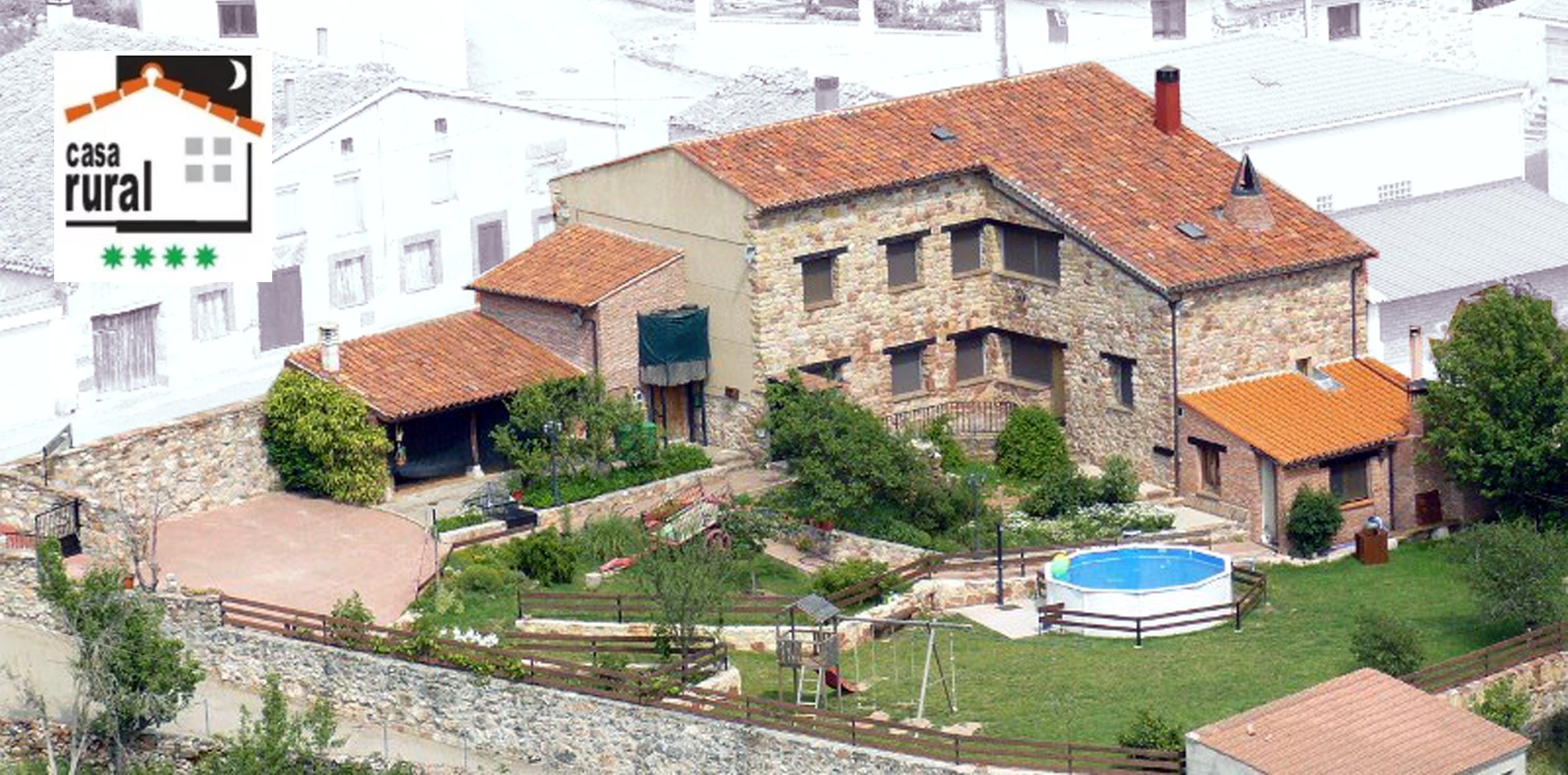 Casa rural cerca del ca n del r o lobos chimenea de soria for Casas rurales cerca de piscinas naturales