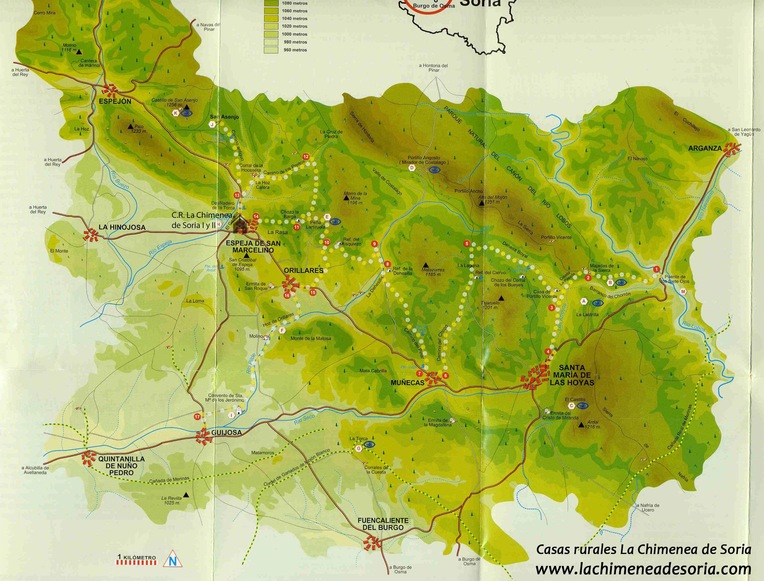 Mapa senderos PR-SO6