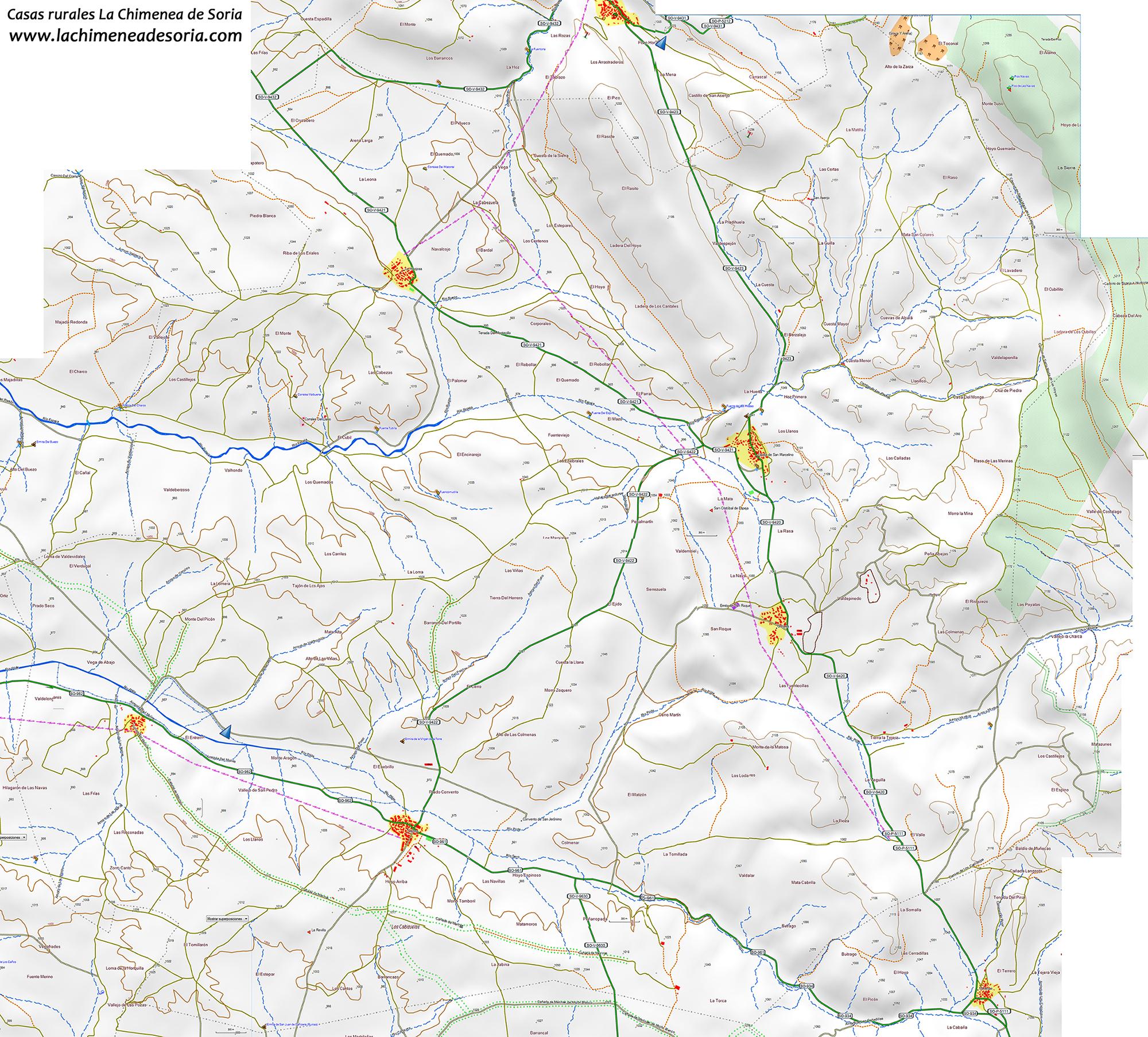 Mapa municipio Espeja de San Marcelino