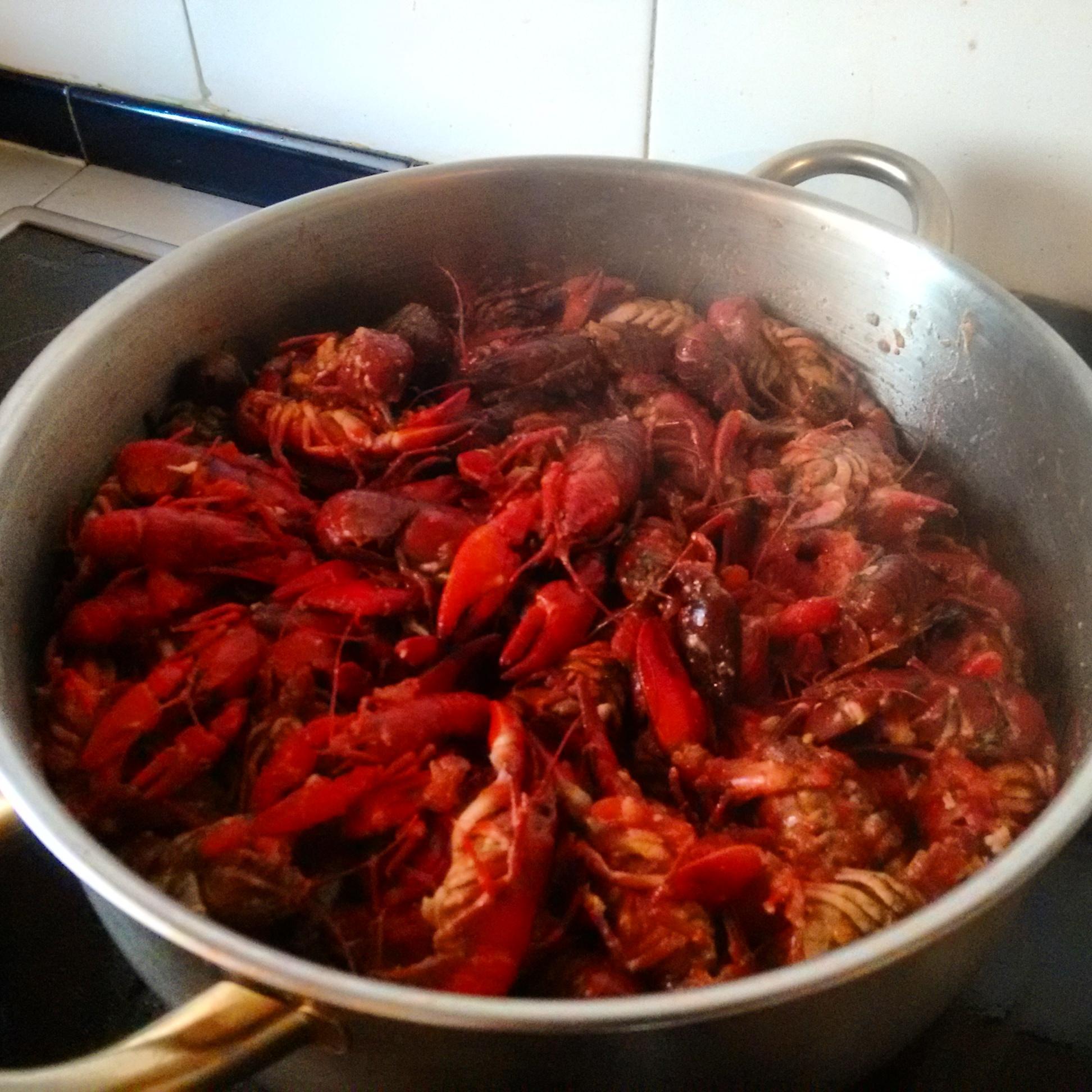 cangrejos de río cocina