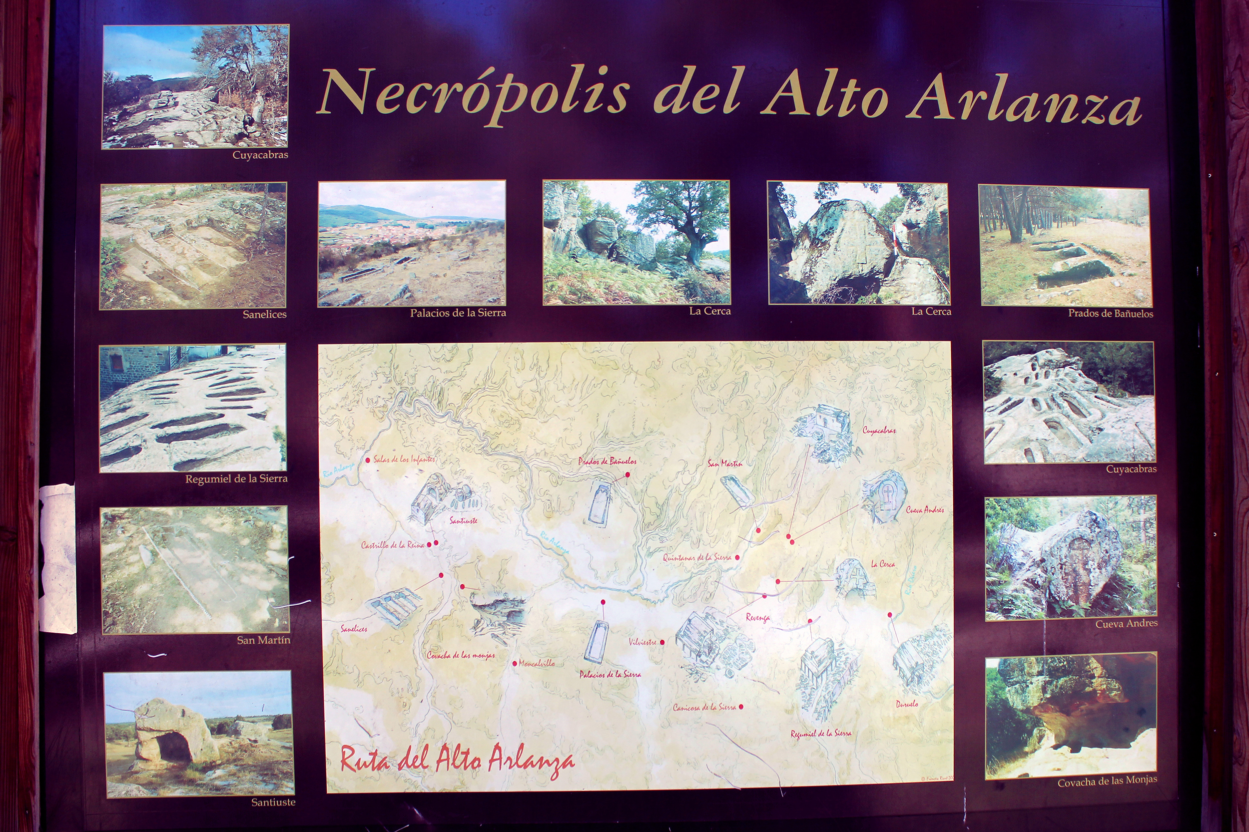 mapa necropolis del alto arlanza
