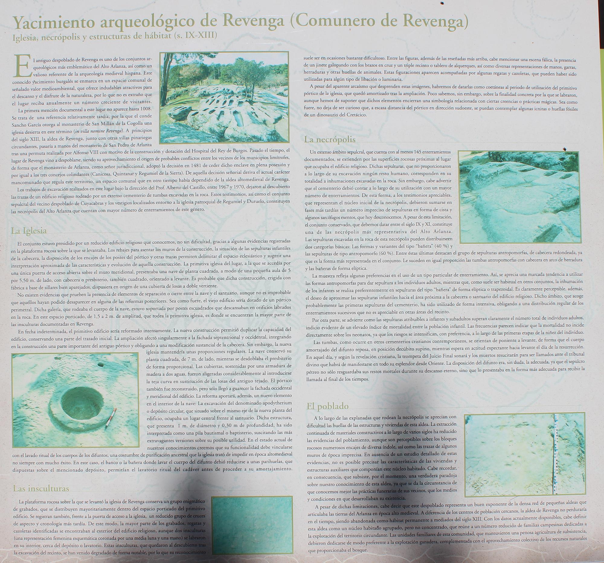 yacimiento arqueologico de revenga información