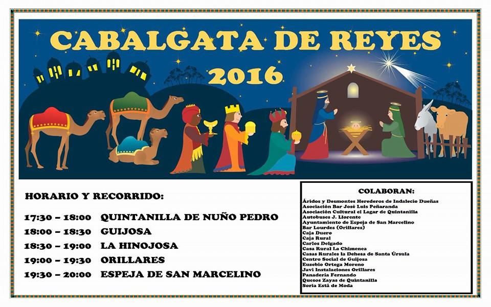 cartel cabalgata de reyes espeja de san marcelino orillares la hinojosa quintanilla 2016