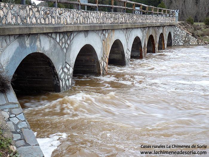 puente de los siete ojos cañon del rio lobos soria