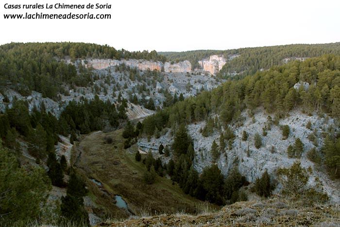 cañon del rio lobos desde el castillo billido parque natural soria