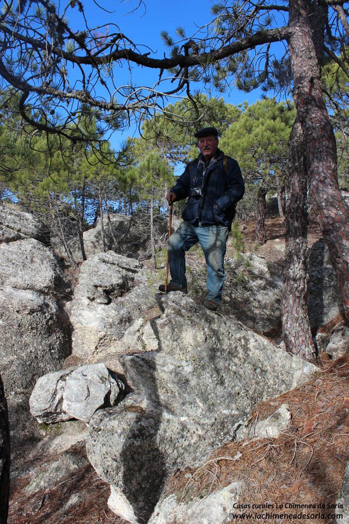 escalera roca formas raras pinares soria espeja