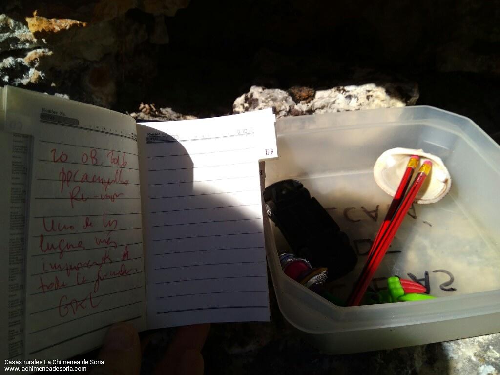 geocaching cache log cuevas de alcala soria