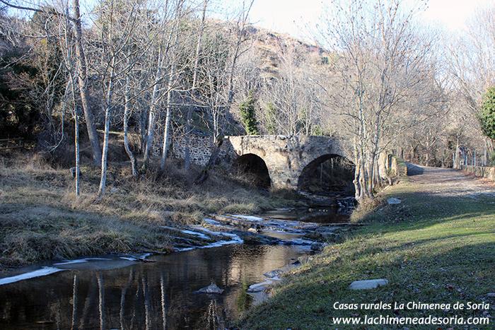 santa cruz de yanguas puente rio baos valdarcel invierno tierras altas