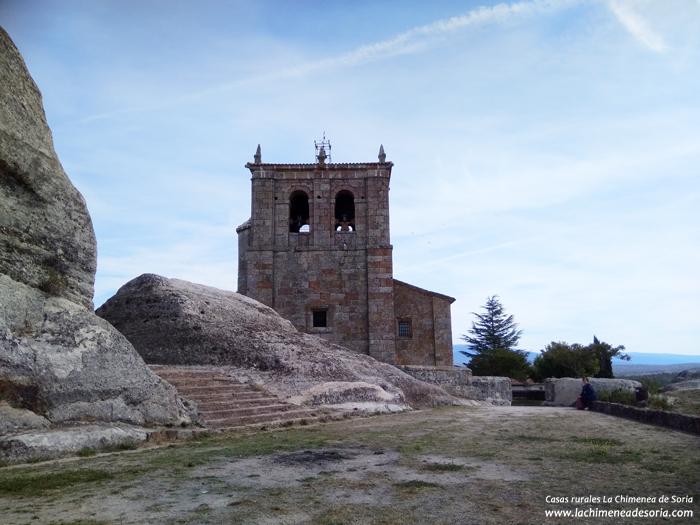 castillo e iglesia de hacinas burgos